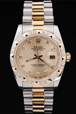 Gold Stainless Steel Band Top Quality Diamond-Studded Datejust Swiss Mechanism Luxury Watch 5351 Replica Rolex Datejust