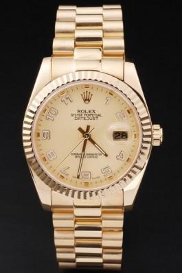 Gold Top Quality Rolex Datejust Swiss Mechanism Luxury Watch 5367 Replica Rolex Datejust
