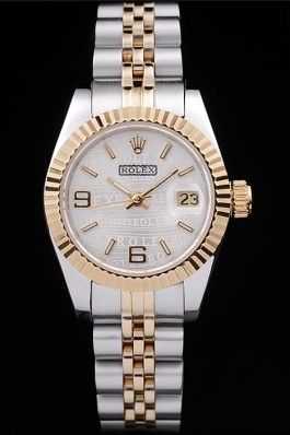 Rolex Datejust Two Tone Stainless Steel Yellow Gold Plated 98079 Replica Rolex Datejust