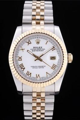 Rolex Datejust White Dial Ribbed Bezel 7451 Replica Rolex Datejust
