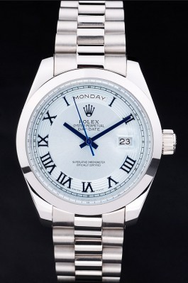 Stainless Steel Band Top Quality Silver Day-Date Luxury Watch 197 5119 Rolex Replica Aaa