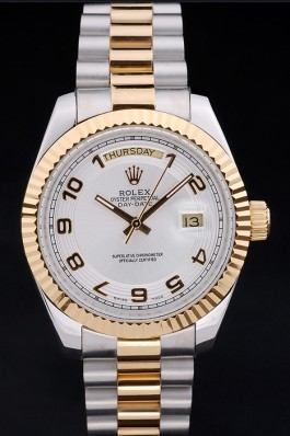 Stainless Steel Band Top Quality Rolex Day-Date Luxury Watch 201 5122 Rolex Replica Aaa