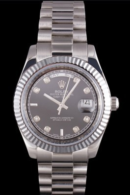 Stainless Steel Band Top Quality Rolex Silver Luxury Watch 203 5124 Rolex Replica Aaa