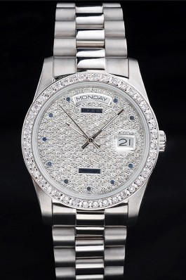 Stainless Steel Band Top Quality Rolex Silver Luxury Watch 5211 Rolex Replica Aaa