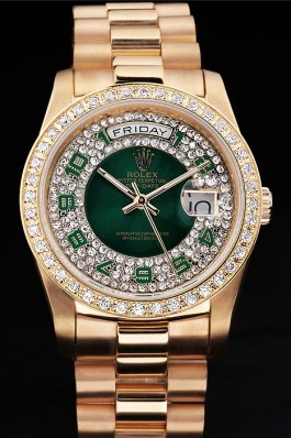 Gold Stainless Steel Band Top Quality Gold Day-Date Luxury Watch 5212 Rolex Replica Aaa