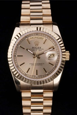 Gold Stainless Steel Band Top Quality Rolex Gold Luxury Watch 5202 Rolex Replica Aaa