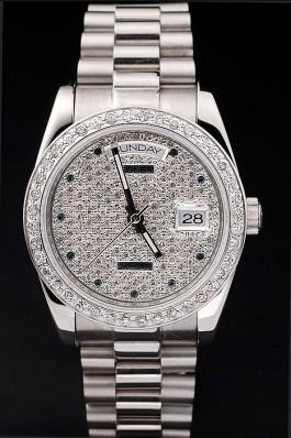 Swiss Mechanism Top Quality Rolex Silver Luxury Watch 5362 Rolex Replica Aaa