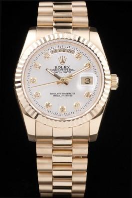 Gold Top Quality Rolex Gold Swiss Mechanism Luxury Watch 5369 Rolex Replica Aaa