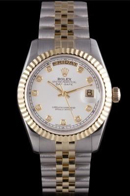 Gold Top Quality Gold Day-Date Swiss Mechanism Luxury Watch 5373 Rolex Replica Aaa