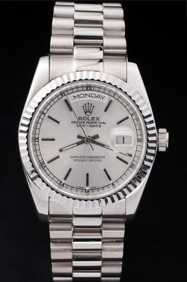 Swiss Mechanism Top Quality Rolex Silver Luxury Watch 5376 Rolex Replica Aaa