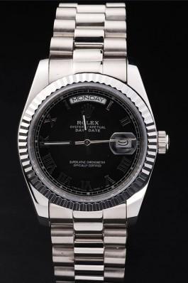 Day-Date Swiss Top Quality Silver Mechanism Luxury Watch 5377 Rolex Replica Aaa