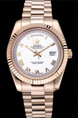 Rolex Day-Date White Dial Gold Bracelet 622546 Rolex Replica Aaa