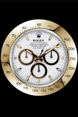 Rolex Daytona Cosmograph Wall Clock Gold-White 621911 Rolex Daytona Replica