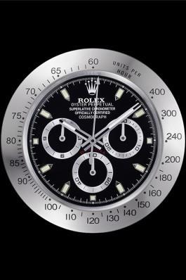 Rolex Daytona Cosmograph Wall Clock Silver-Black 621909 Rolex Daytona Replica