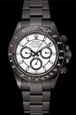 Rolex Daytona Midnight White Dial Black Staineless Steel Bracelet 1454021 Rolex Daytona Replica