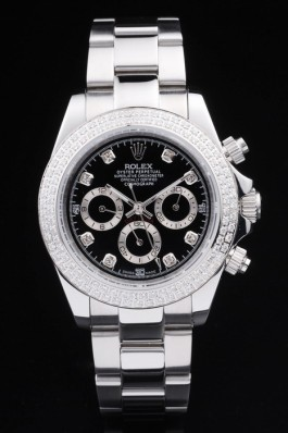 Stainless Steel Band Top Quality Rolex Silver Luxury Watch 166 5095 Rolex Daytona Replica