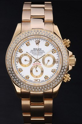 Gold Stainless Steel Band Top Quality Rolex Daytona Luxury Watch 168 5097 Rolex Daytona Replica