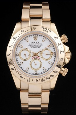 Gold Stainless Steel Band Top Quality Rolex Gold Luxury Watch 23 5142 Rolex Daytona Replica