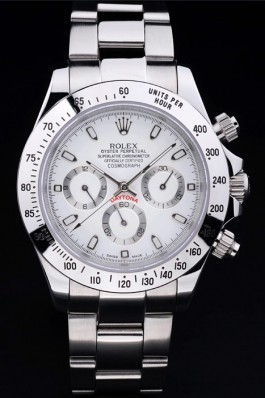Silver Stainless Steel Band Top Quality Rolex Daytona Luxury Watch 5257 Rolex Daytona Replica