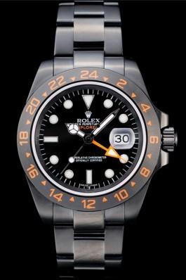 Rolex Explorer Black Ceramic Bezel Black Dial Watch Replica Rolex