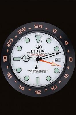 Rolex Explorer II Wall Clock Black-Orange 622479 Replica Rolex