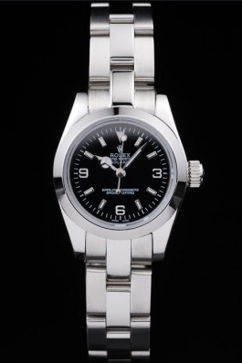 Rolex Explorer Polished Stainless Steel Black Dial 98089 Replica Rolex