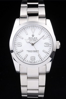 Rolex Explorer Polished Stainless Steel White Dial 98086 Replica Rolex