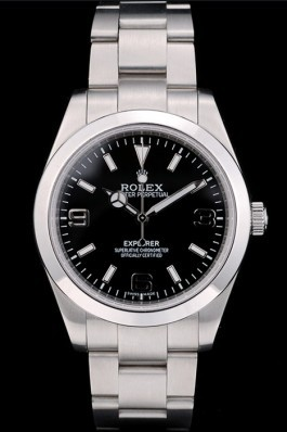 Rolex Explorer Stainless Steel Bezel Black Dial 41984 Replica Rolex