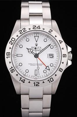 Rolex Explorer Stainless Steel Bezel White Dial Replica Rolex