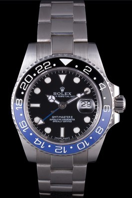 Rolex GMT MASTER II BLACK/BLUE BEZEL 2013 rl431 621393 Rolex Replica Gmt