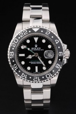 Stainless Steel Band Top Quality Silver GMT Master II Swiss Mechanism Luxury Watch 5354 Rolex Replica Gmt