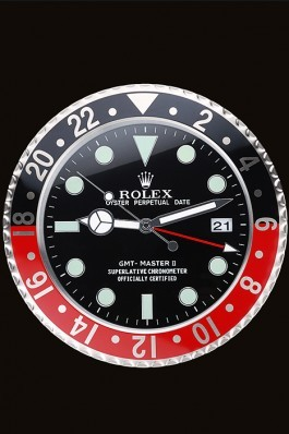 Rolex GMT Master II Wall Clock Black-Red 622478 Rolex Replica Gmt