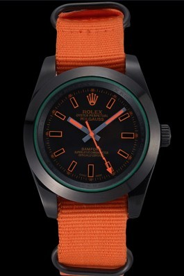 Rolex Milgauss Bamford Orange Nylon Strap 622003 Luxury Watch Replica
