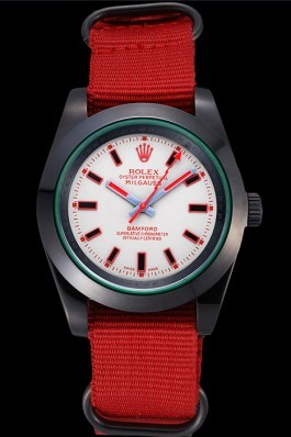 Rolex Milgauss Bamford Red Nylon Strap 622002 Luxury Watch Replica