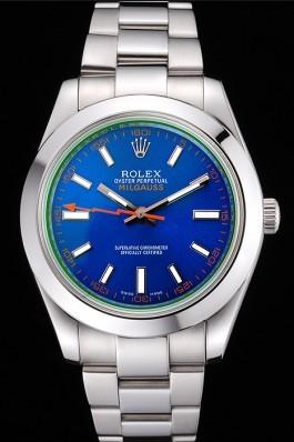 Rolex Milgauss Blue Dial Stainless Steel Case And Bezel 622838 Luxury Watch Replica