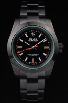 Rolex Milgauss Pro-Hunter Tinted Green Saphire Black Dial Luxury Watch Replica