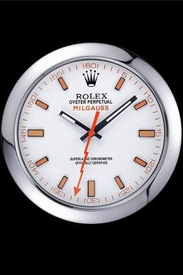 Rolex Milgauss Wall Clock Silver 621910 Luxury Watch Replica