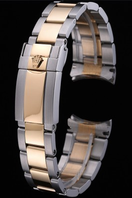 Rolex Plated Yellow Gold and Stainless Steel Link Bracelet 622485 Replica Rolex Bracelet