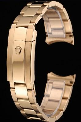 Rolex Polished and Brushed Gold Bracelet 622495 Replica Rolex Bracelet
