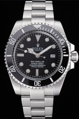 Rolex Sea Dweller Black Dial Stainless Steel Case And Bracelet 622837 Rolex Replica