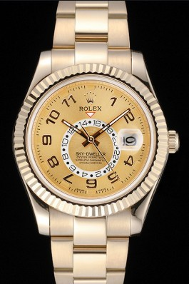 Rolex Sky Dweller Oyster Perpetual Special Edition 2012 Yellow Gold 80243 Cheap Replica Rolex