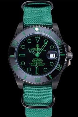 Rolex Stealth Submariner Green Nylon Strap 622009 Rolex Submariner Replica