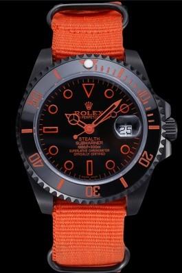 Rolex Stealth Submariner Orange Nylon Strap 622011 Rolex Submariner Replica