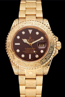 Rolex Submariner Skull Limited Edition Brown Dial Gold Case And Bracelet 1454070 Rolex Submariner Replica