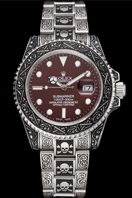 Rolex Submariner Skull Limited Edition Brown Dial Vintage Case And Bracelet 1454078 Rolex Submariner Replica