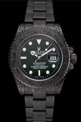 Rolex Submariner Skull Limited Edition Green Dial All Black Case And Bracelet 1454076 Rolex Submariner Replica