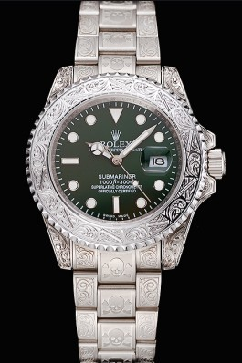 Rolex Submariner Skull Limited Edition Green Dial White Case And Bracelet 1454080 Rolex Submariner Replica