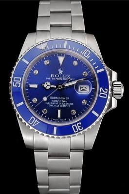 Rolex Submariner Stainless Steel Case Blue Dial Diamond Markers Stainless Steel Bracelet 622638 Rolex Submariner Replica