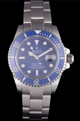 Stainless Steel Band Top Quality Rolex Swiss Mechanism Silver Luxury Watch 5355 Rolex Submariner Replica