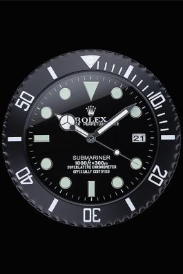 Rolex Submariner Wall Clock Black 622474 Rolex Submariner Replica